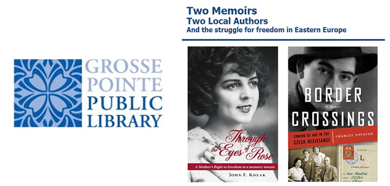 Grosse Pointe Public Library Presents Two Memoirs, Two Local Authors
