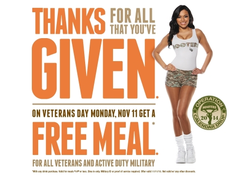Veterans Day 2013 FREE MEALS FOR VETERANS  50+ Restaurants (Updated 11/11/13)