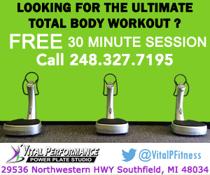 vital performance fitness Studio Michigan - Call 248 -327-7195  for a Free 30 Min Workout Session