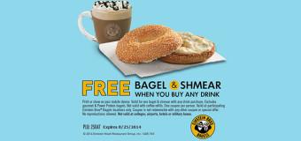 Free Bagel & Shmear from Einstein Bros Bagels
