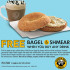 Free Bagel & Shmear when you buy any Drink at Einstein Bros Bagels