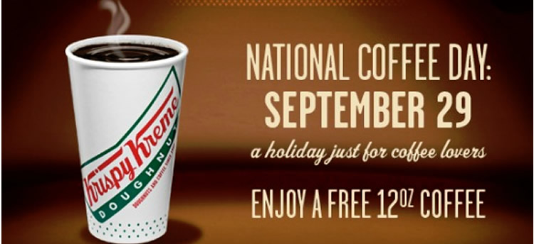 National Coffee Day: Krispy Kreme Coffee, McDonalds Coffee, Dunkin Donuts & More Free