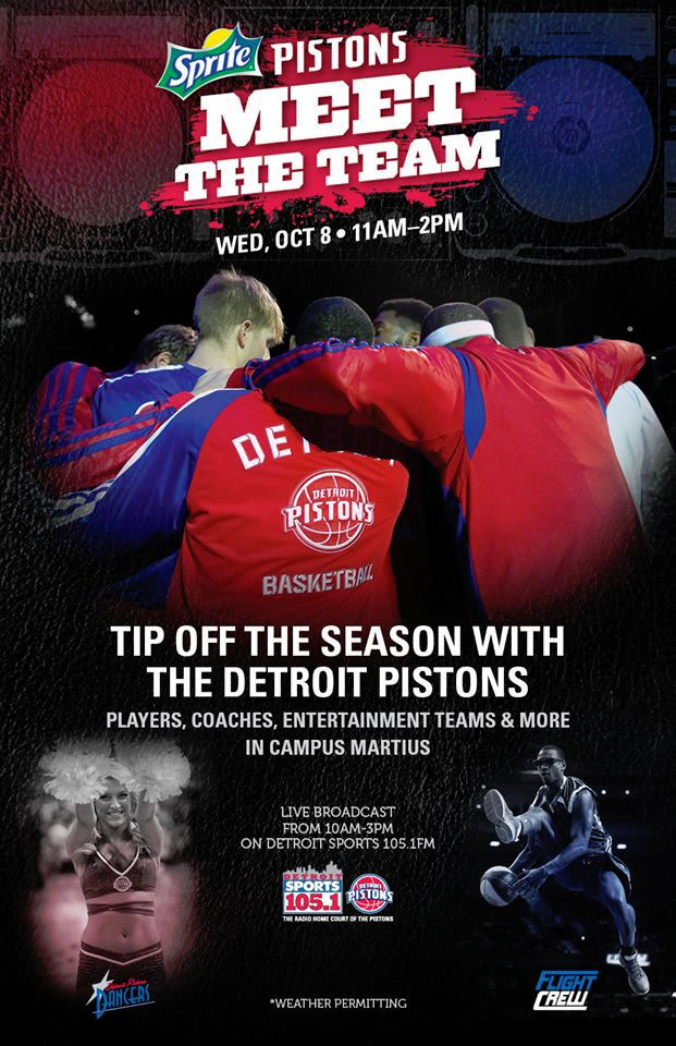 Join The Detroit Pistons at Campus Martius Park for 'Meet the Team' Presented by Sprite