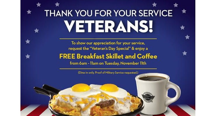 Veterans Day 2014 :  Full List Of Restaurants Offering Free Food & Freebies