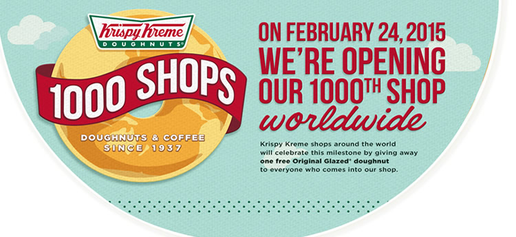 Krispy Kreme: Free Original Glazed doughnut Tuesday, February 24th