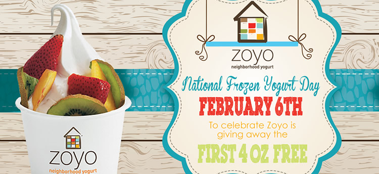 Free Frozen Yogurt at Zoyo Neighborhood Yogurt