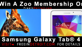 Win A Family Pass To The Detroit Zoo OR  A Samsung Galaxy Tab
