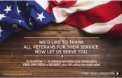 Veterans Day 2016 Free Meals, Discounts and Deals