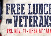 Texas Roadhouse Free Veterans Day Lunch Nov. 11