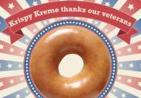 Free Doughnut and Coffee at Krispy Kreme Veterans Day 2016.