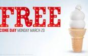 Free small vanilla cone at Dairy Queen